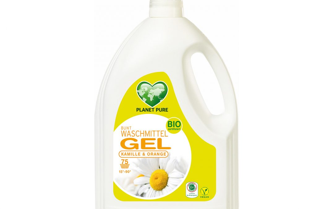 Bio Waschmittel GEL Bunt Kamille Orange 3L