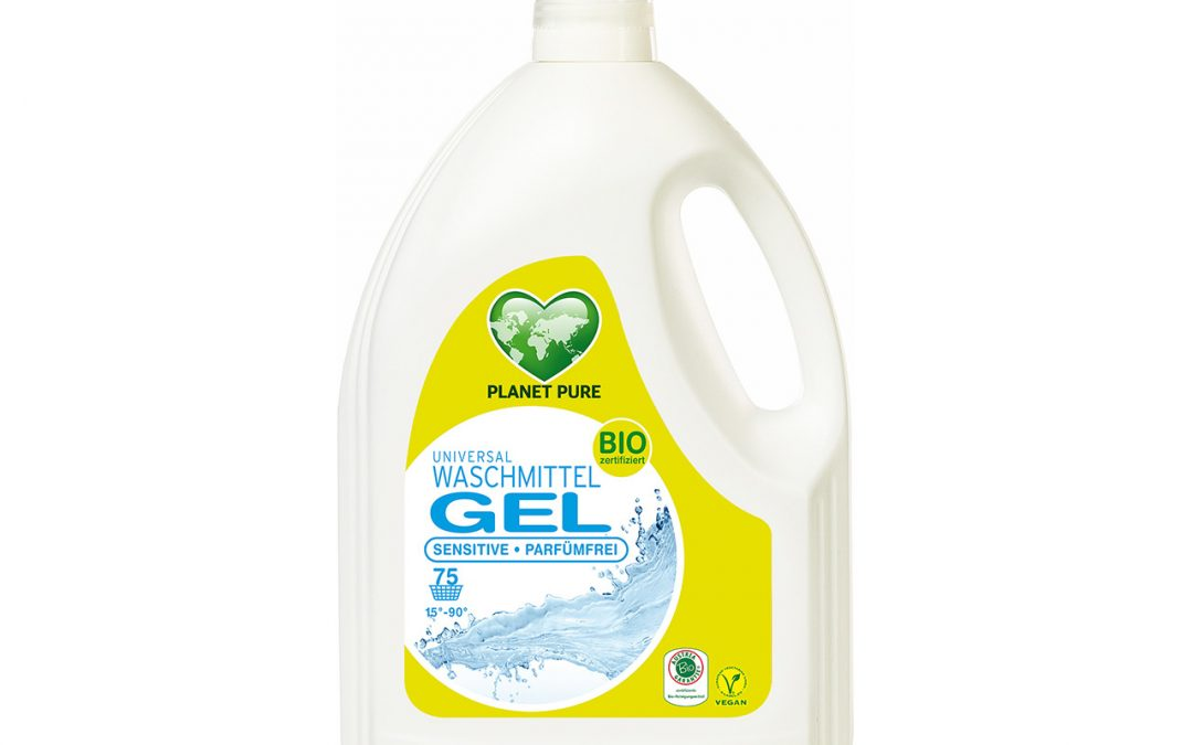 Bio Waschmittel GEL Sensitive Parfümfrei 3L
