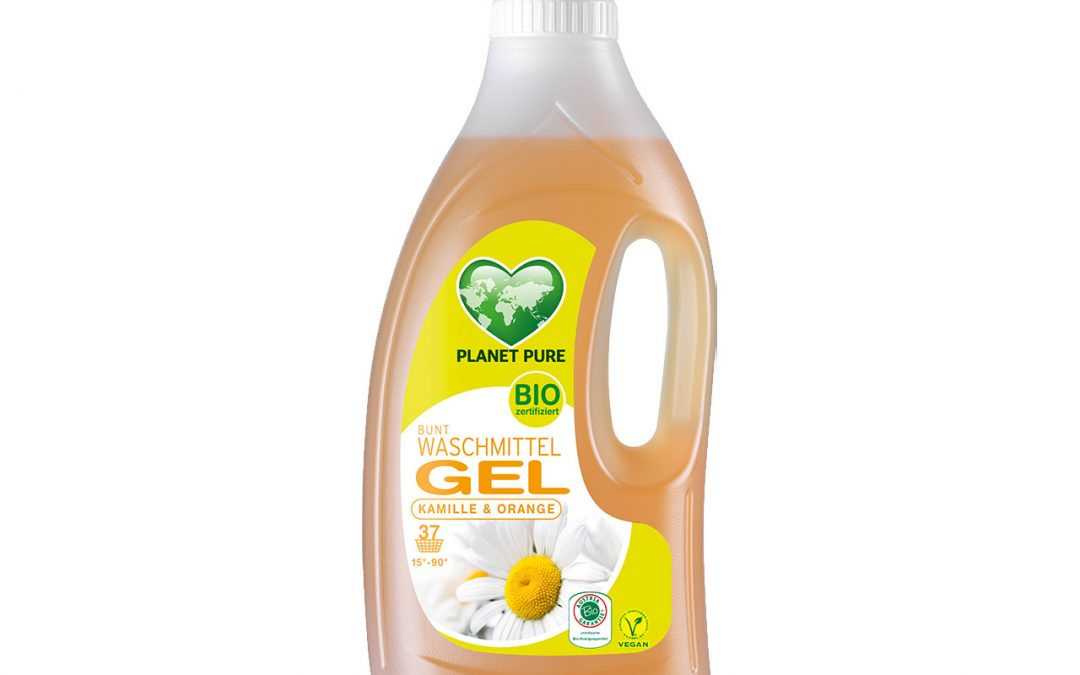 Bio Waschmittel GEL Kamille Orange 1,5L